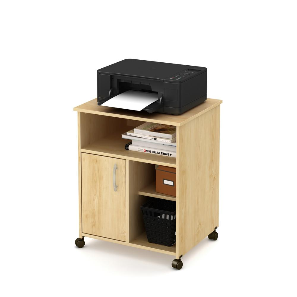 decorative cabinets axess printer cart on wheels maple 14571