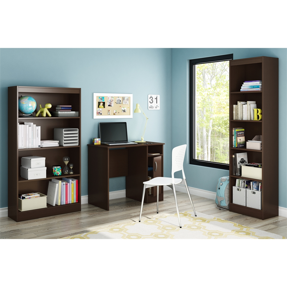 South Shore Axess Small Desk Chocolate