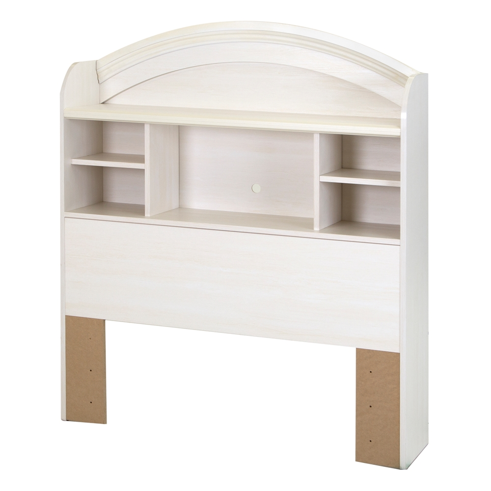 White Twin Bed With Bookcase Headboard