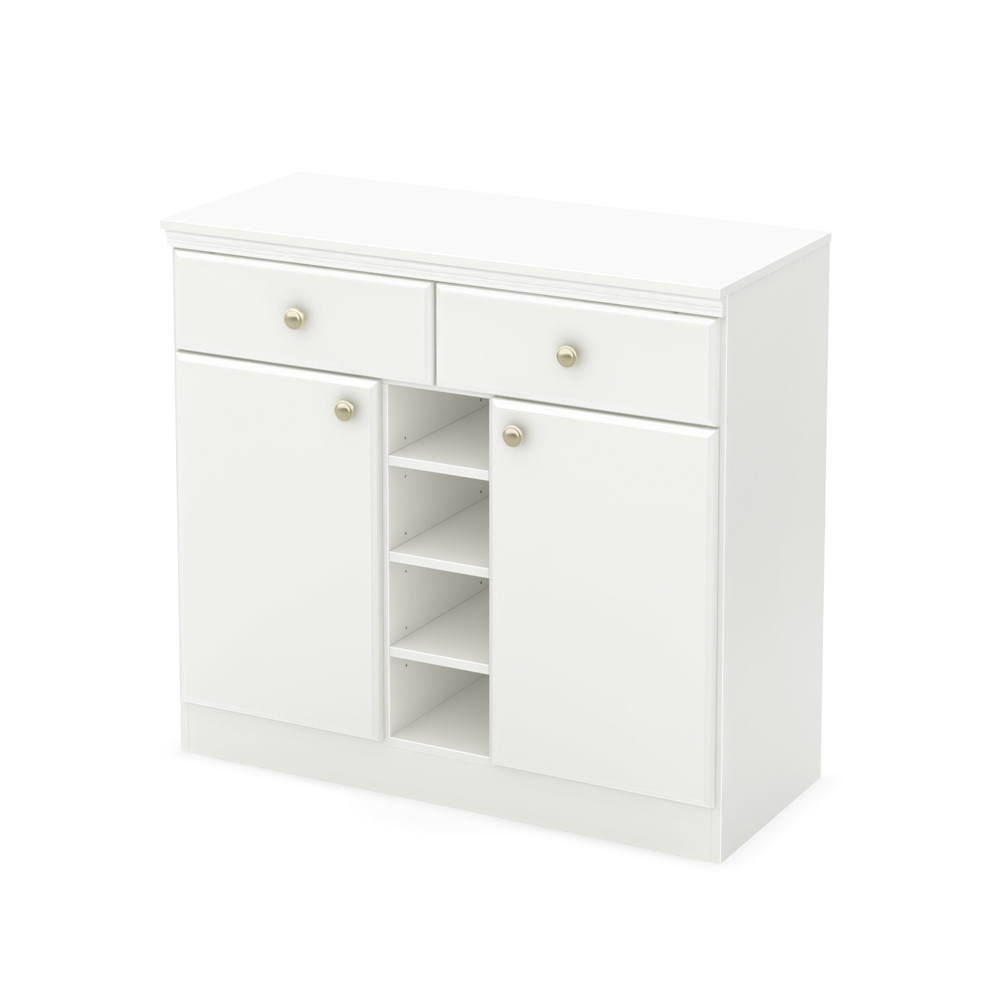 South shore morgan sideboard pure white for South shore artwork craft table with storage pure white