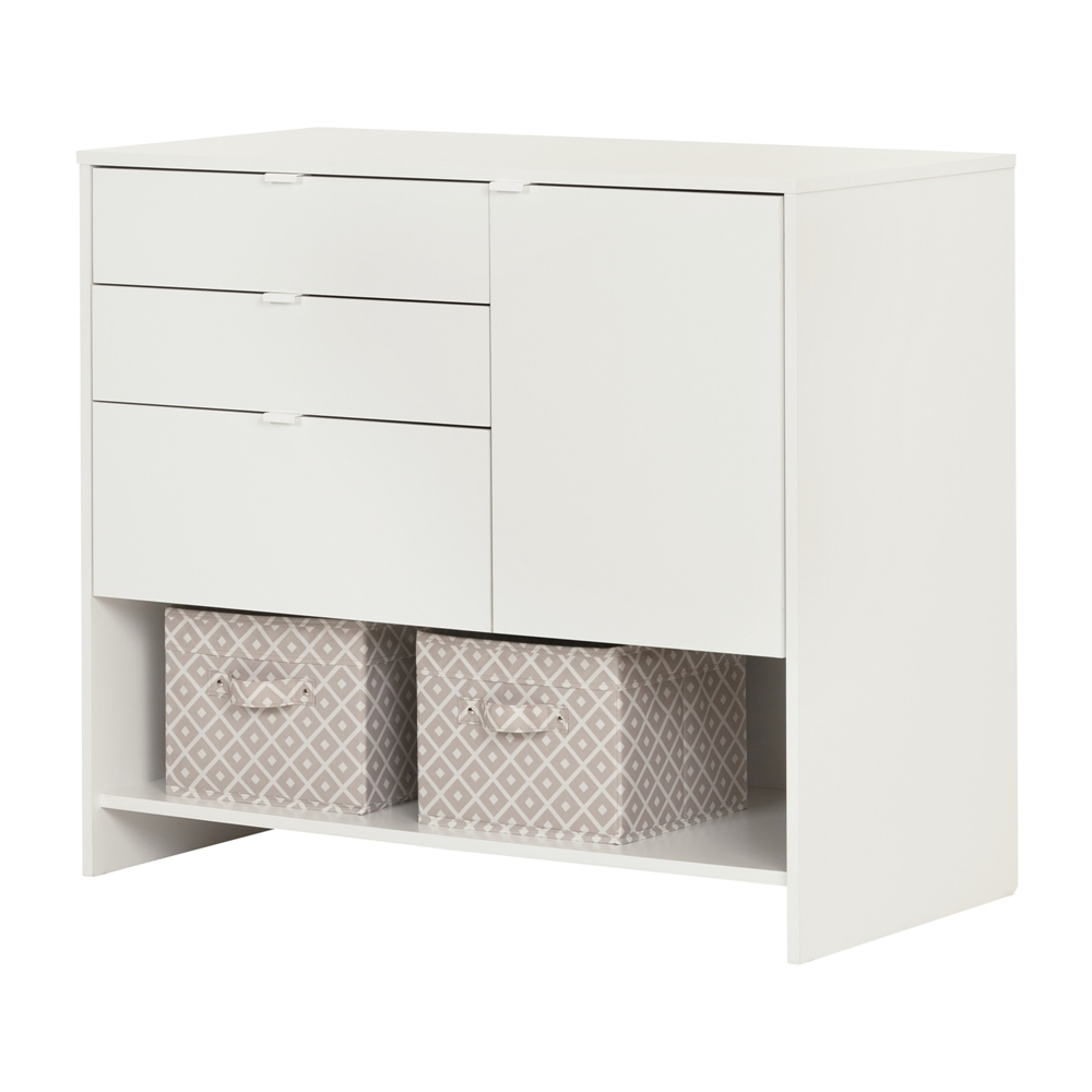 South shore crea pure white craft storage cabinet with drawers for South shore artwork craft table with storage pure white