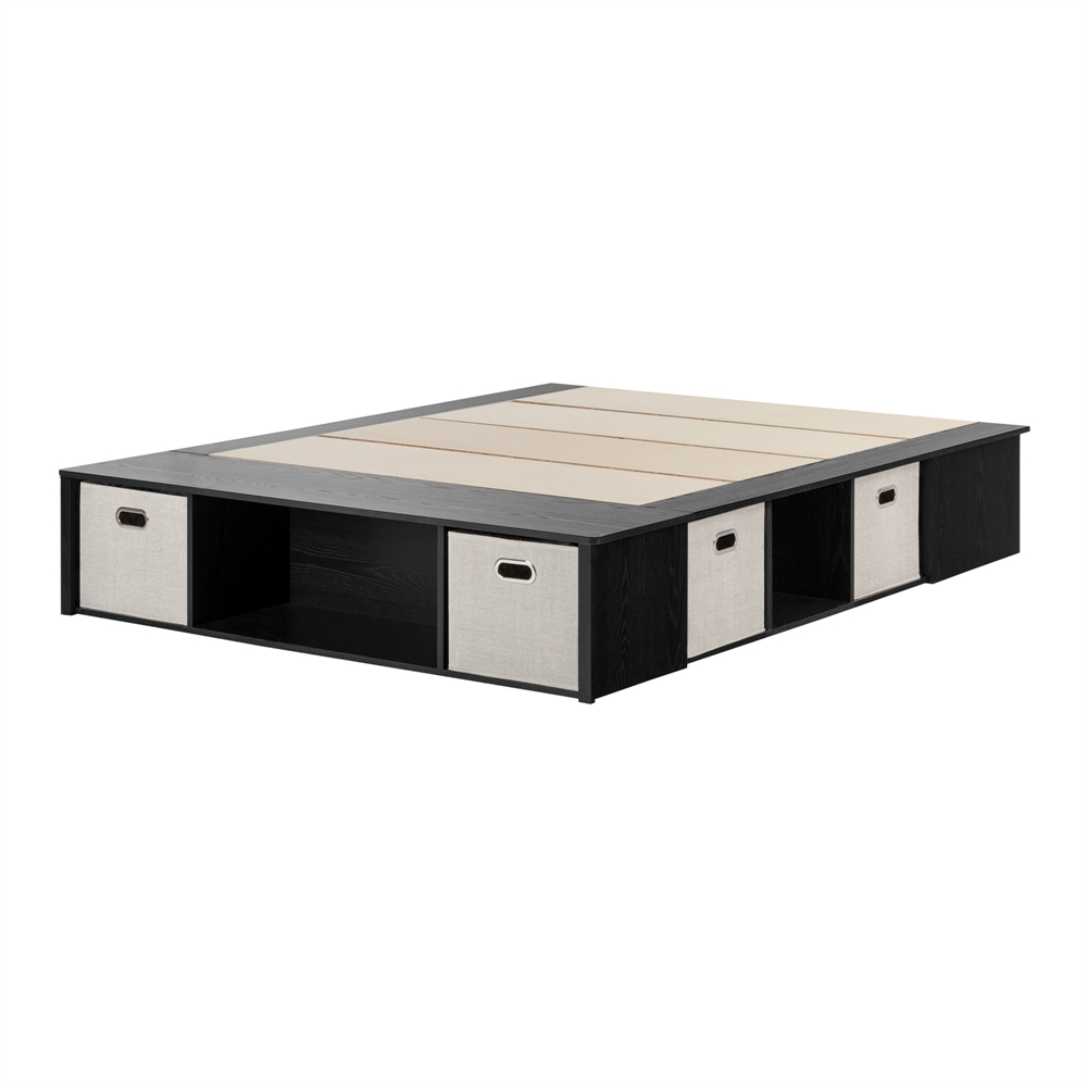 south shore twin platform bed with storage drawer black tall