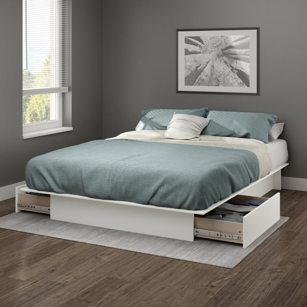 Gramercy Full/Queen Platform Bed (54/60'') With Drawers