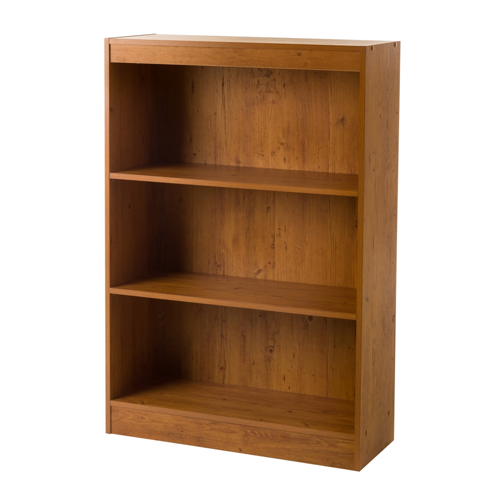 south shore axess 3 shelf bookcase country pine. Black Bedroom Furniture Sets. Home Design Ideas