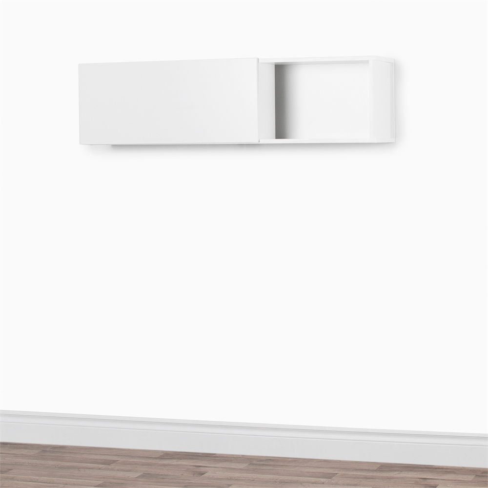 South S City Life Wall Mounted Storage Unit Pure White