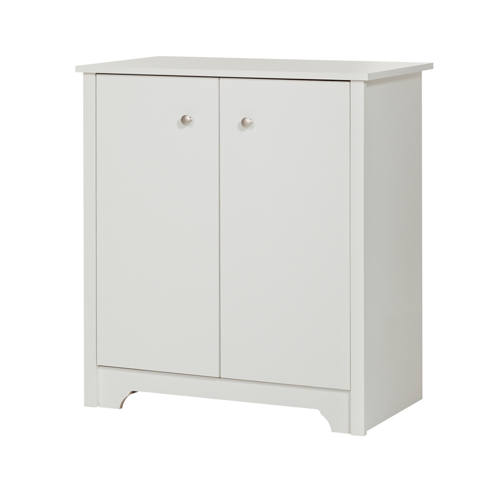 South shore vito small 2 door storage cabinet pure white for South shore artwork craft table with storage pure white