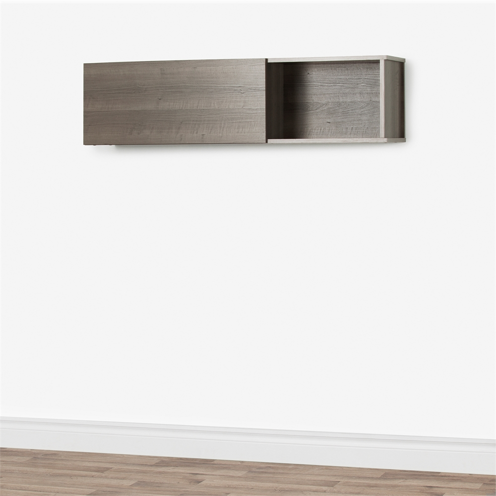South Shore City Life Wall Mounted Storage Unit Gray Maple