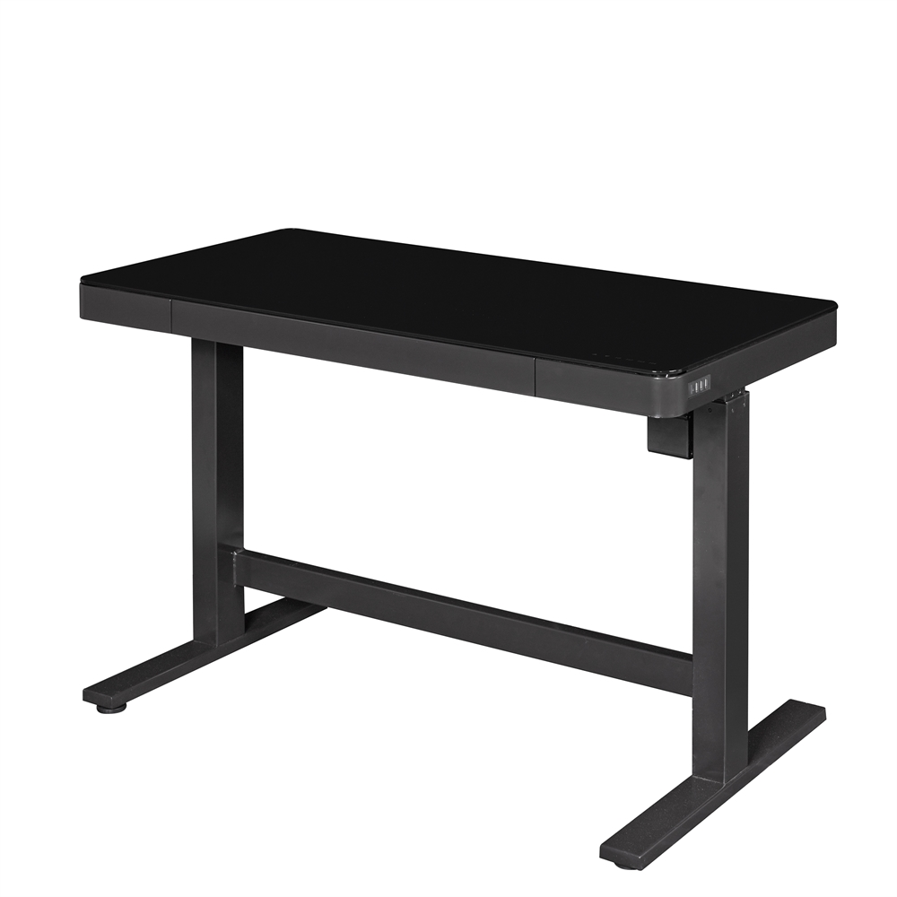 adjustable height desk black. Black Bedroom Furniture Sets. Home Design Ideas