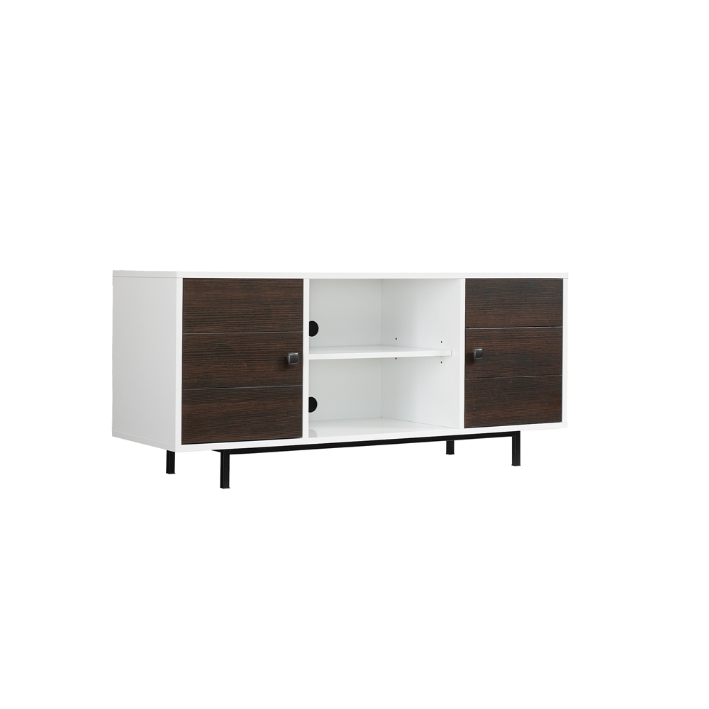 Ridgeville Two Tone TV Stand For TVs Up To 60 Inches High