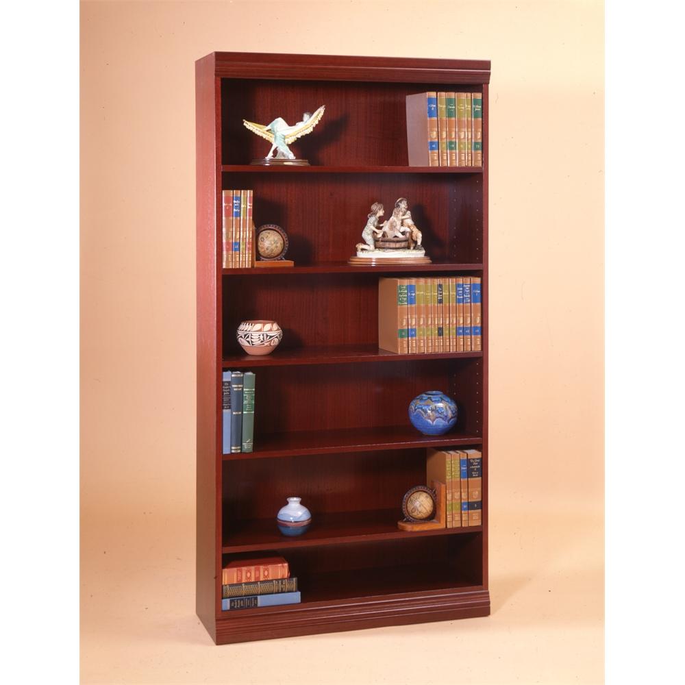 jefferson traditional wood veneer bookcase heavy duty shelf 30 h medium cherry - Heavy Duty Bookshelves