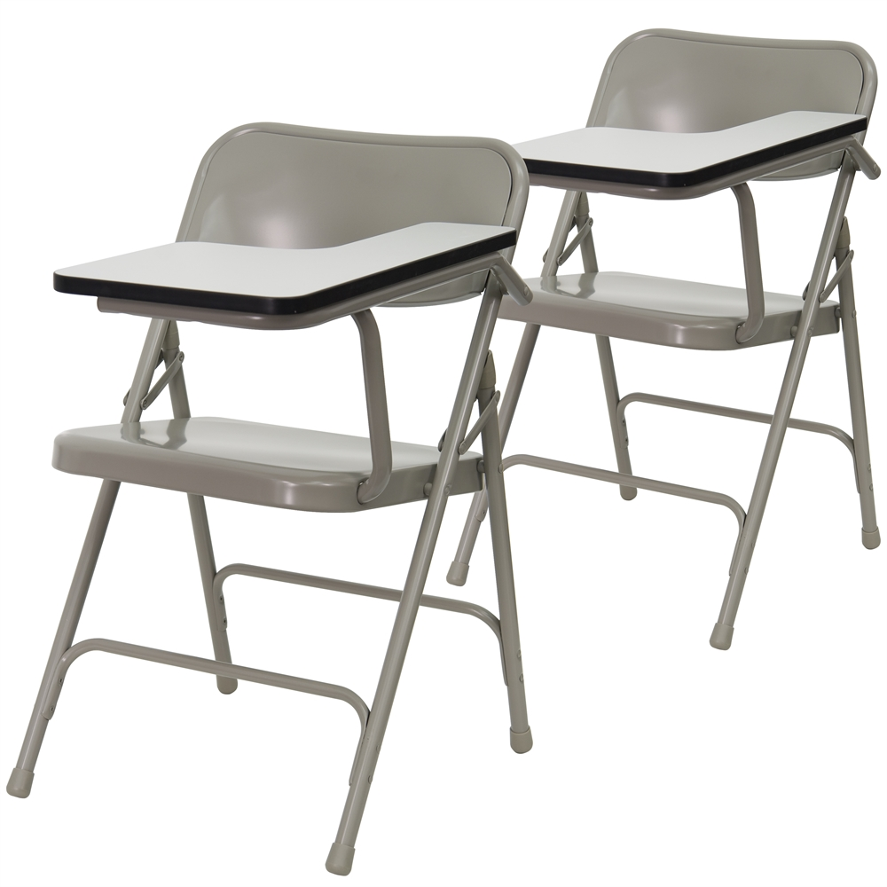 2 Pk. Premium Steel Folding Chair with Left Handed Tablet Arm. Picture 1