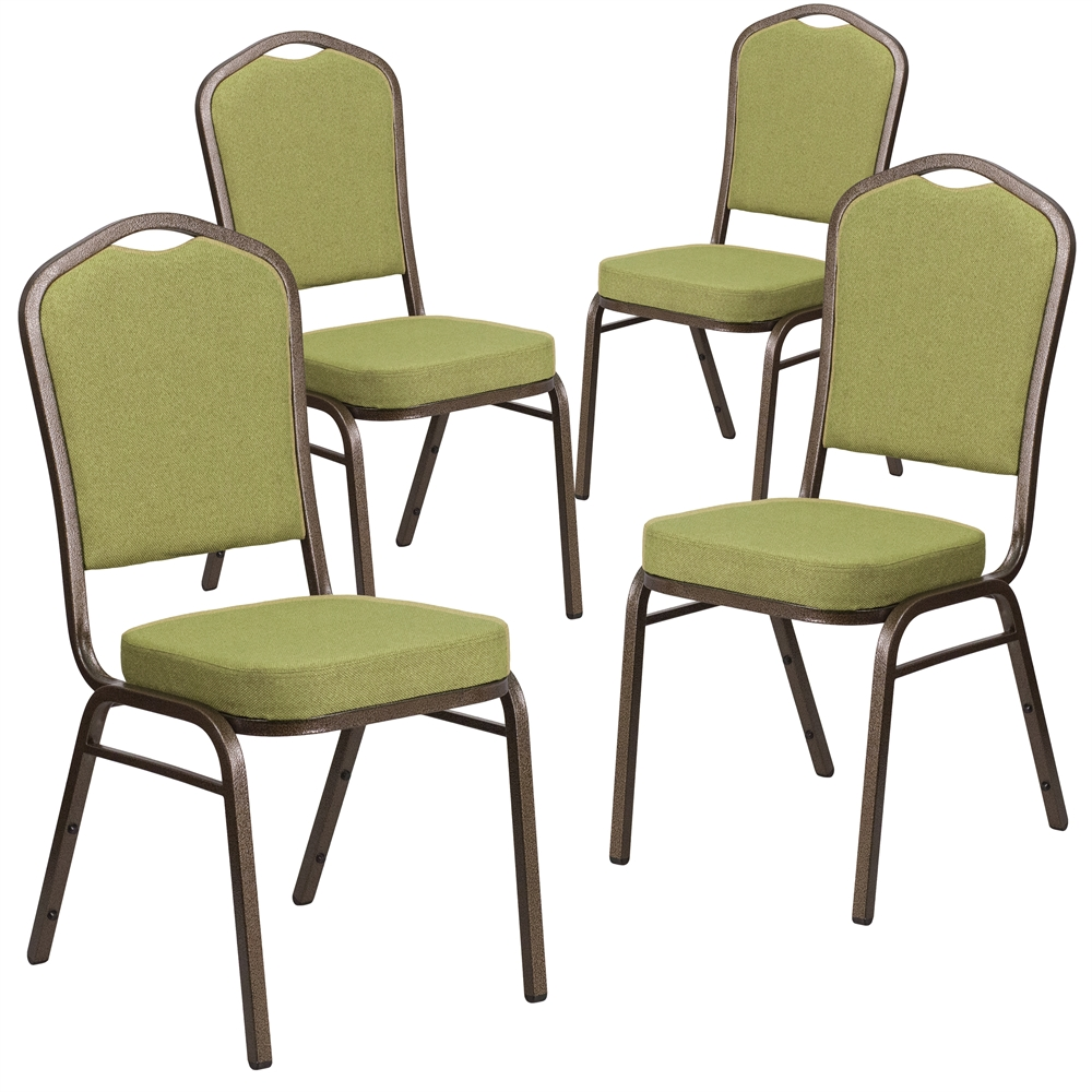 4 Pk Hercules Series Crown Back Stacking Banquet Chair