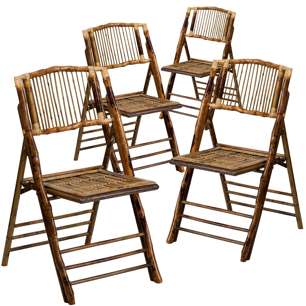 Enjoyable 4 Pk American Champion Bamboo Folding Chair Gmtry Best Dining Table And Chair Ideas Images Gmtryco