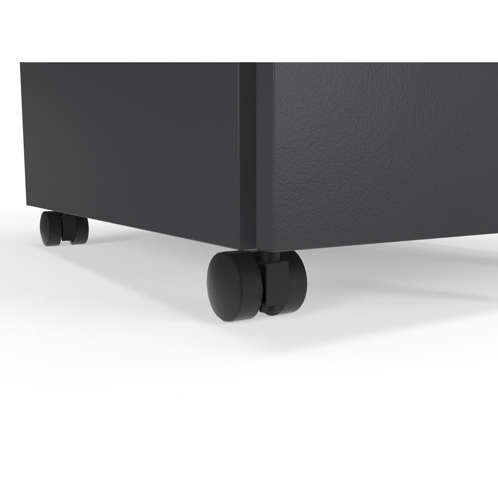 Commercial-Grade Mobile Metal Pedestal, Filing Cabinet, Charcoal. Picture 10