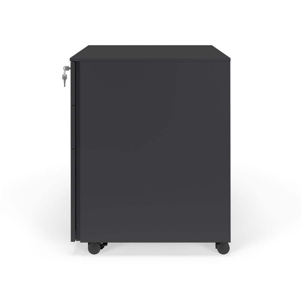 Commercial-Grade Mobile Metal Pedestal, Filing Cabinet, Charcoal. Picture 5