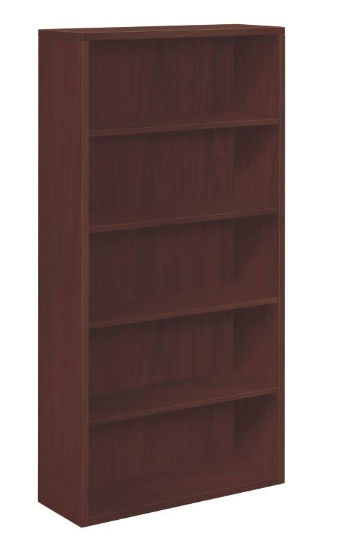 """10500 Series Bookcase   5 Shelves   36""""W x 13-1/8""""D x 71""""H   Mahogany Finish. Picture 1"""