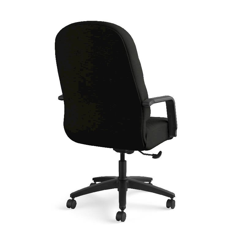 HON Pillow-Soft Executive High-Back Chair | Center-Tilt, Tension, Lock | Fixed Arms | Black Leather. Picture 7