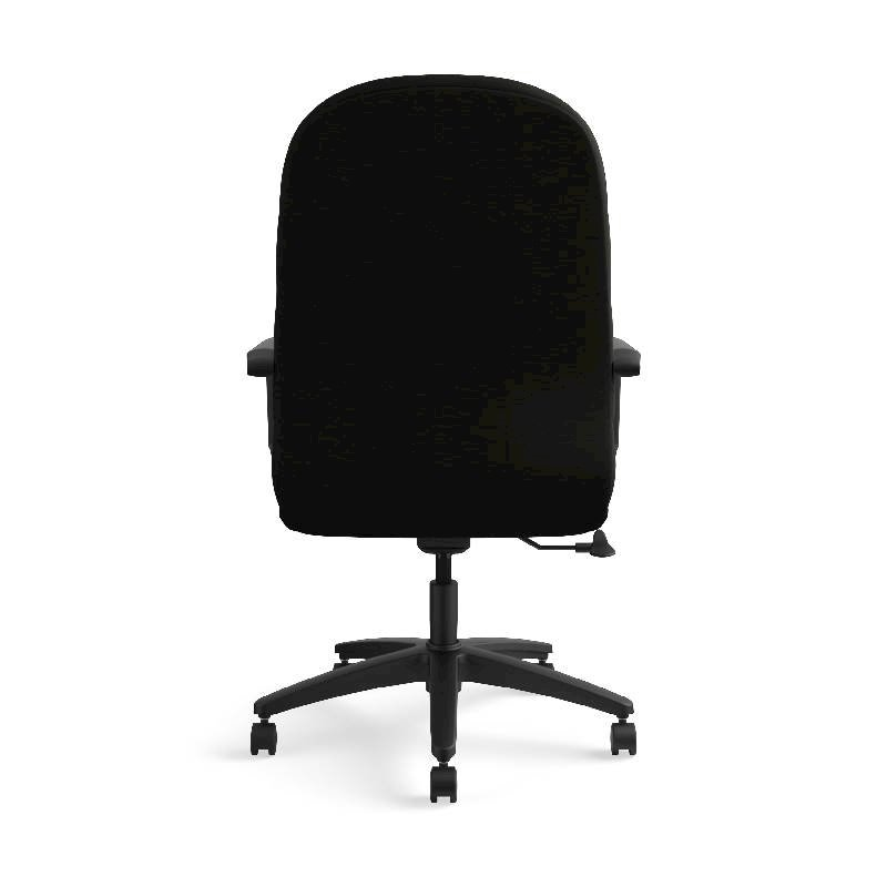 HON Pillow-Soft Executive High-Back Chair | Center-Tilt, Tension, Lock | Fixed Arms | Black Leather. Picture 8