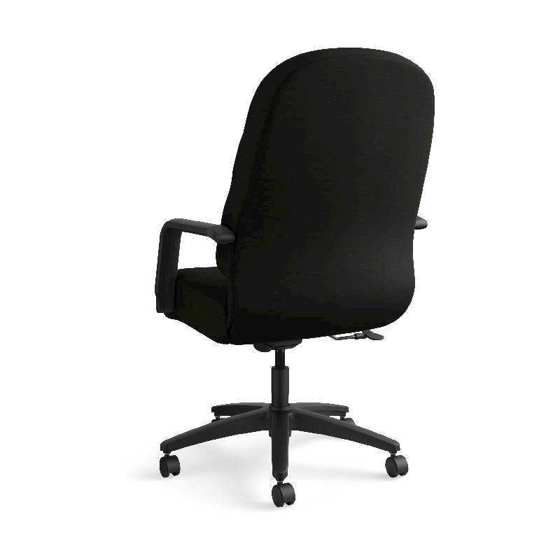 HON Pillow-Soft Executive High-Back Chair | Center-Tilt, Tension, Lock | Fixed Arms | Black Leather. Picture 9