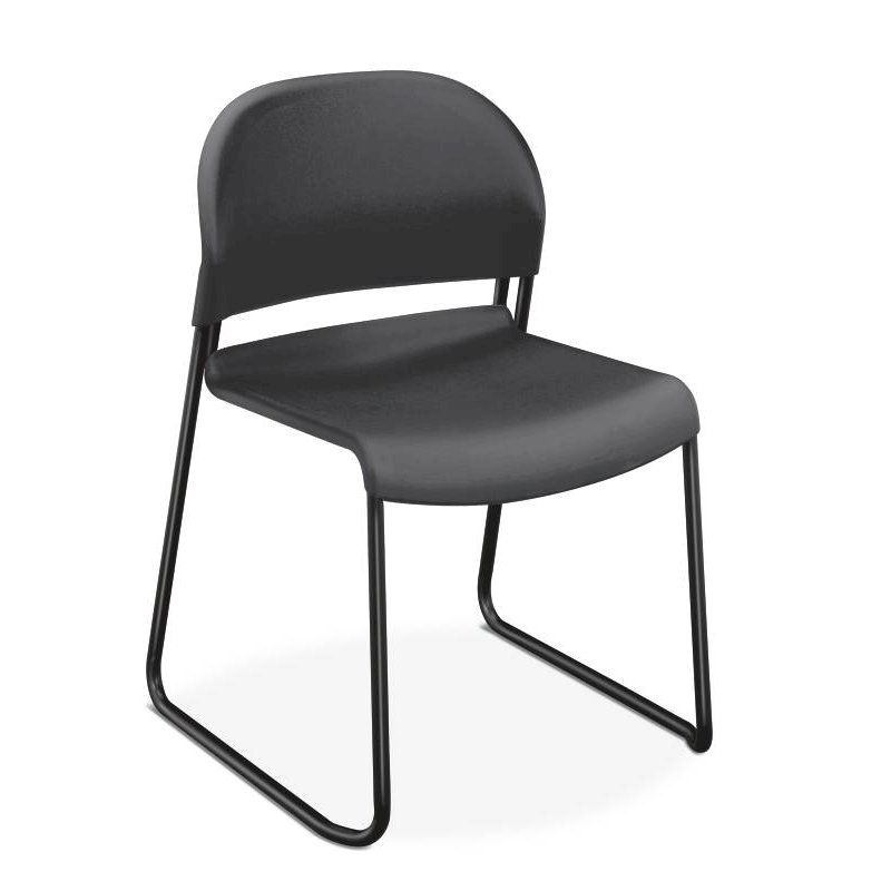 HON GuestStacker High-Density Stacking Chair | Lava Shell | 4 per Carton. Picture 1
