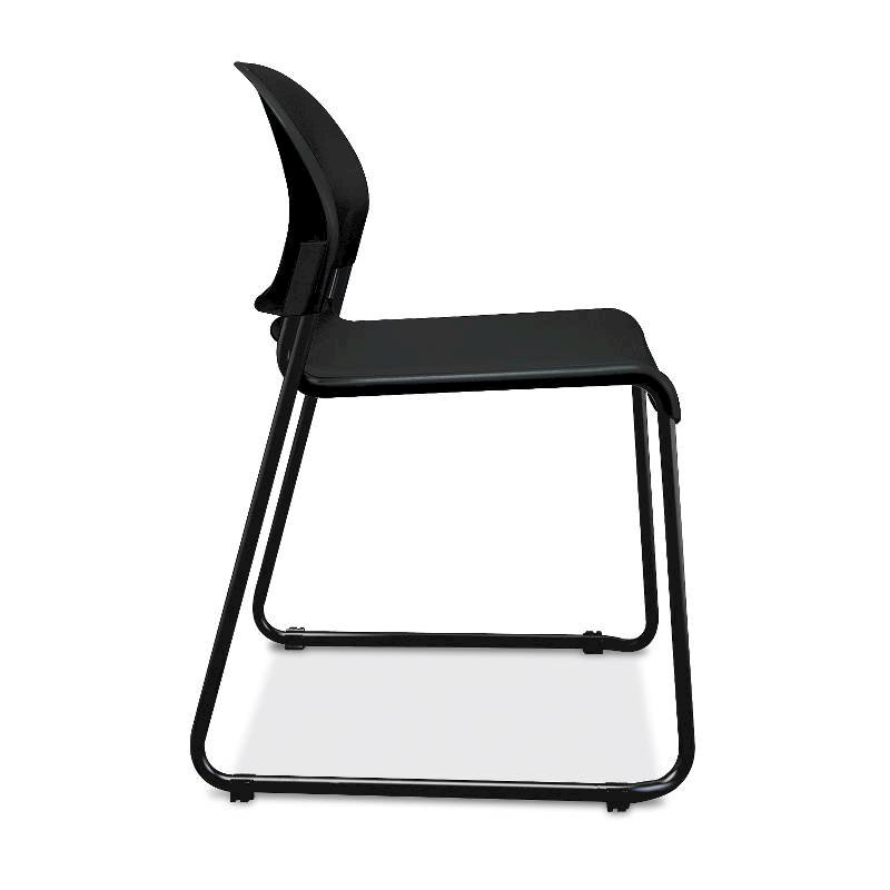 HON GuestStacker High-Density Stacking Chair | Onyx Shell | 4 per Carton. Picture 2