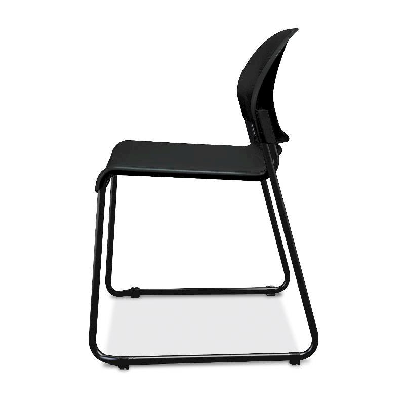 HON GuestStacker High-Density Stacking Chair | Onyx Shell | 4 per Carton. Picture 3