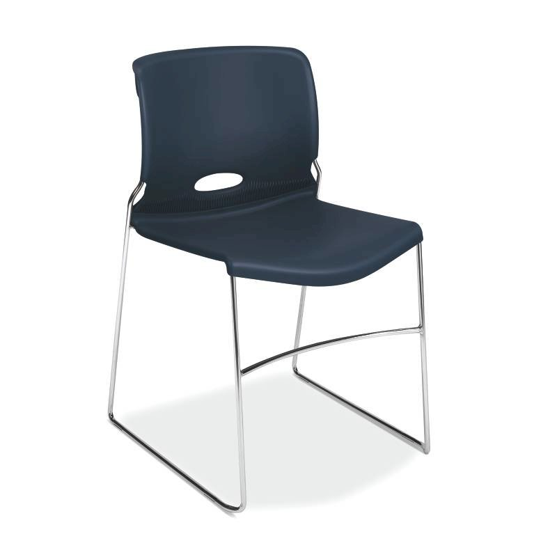 HON Olson High-Density Stacking Chair | Regatta Shell | 4 per Carton. Picture 1