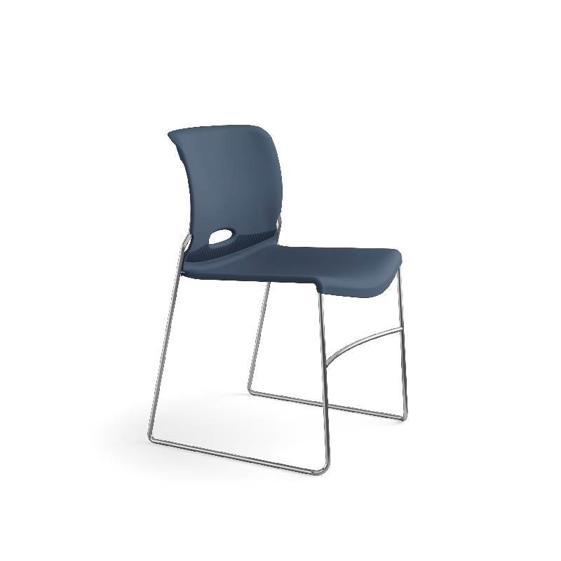 HON Olson High-Density Stacking Chair | Regatta Shell | 4 per Carton. Picture 2