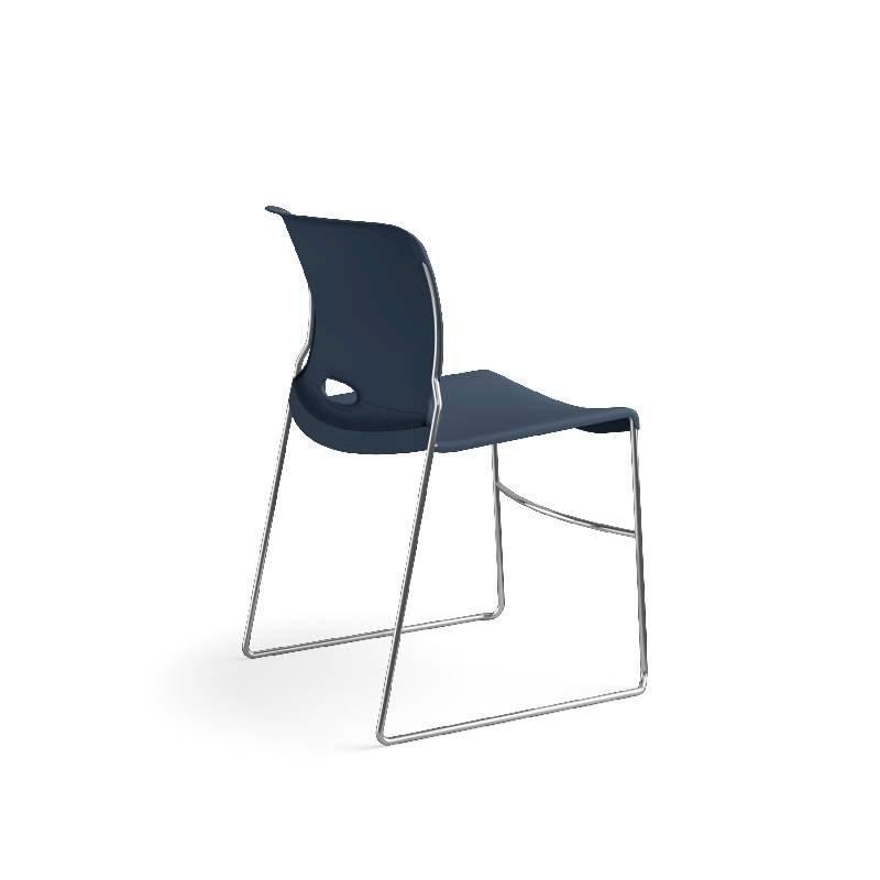 HON Olson High-Density Stacking Chair | Regatta Shell | 4 per Carton. Picture 7