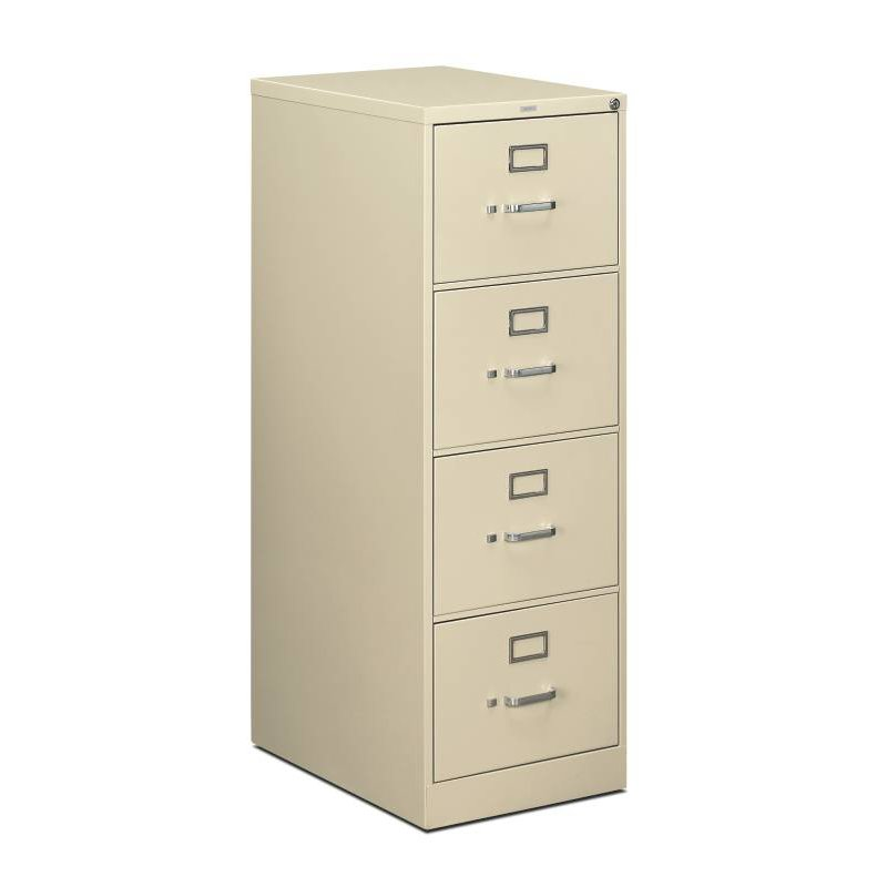"HON 510 Series Vertical File | 4 Drawers | Legal Width | 18-1/4""W x 25""D x 52""H 