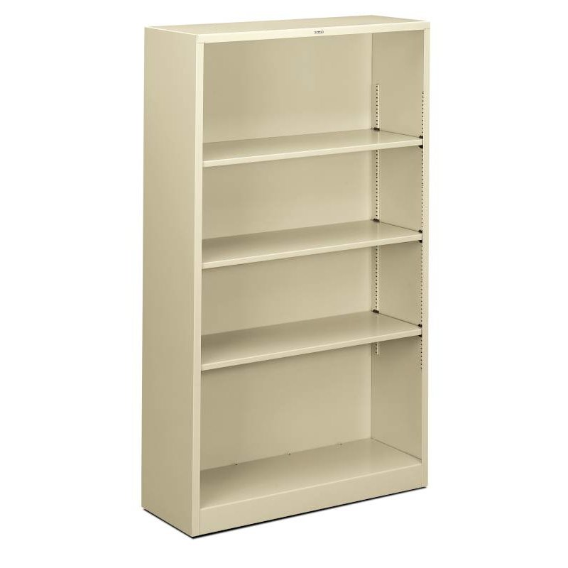 "HON Brigade Steel Bookcase | 4 Shelves | 34-1/2""W x 12-5/8""D x 59""H 