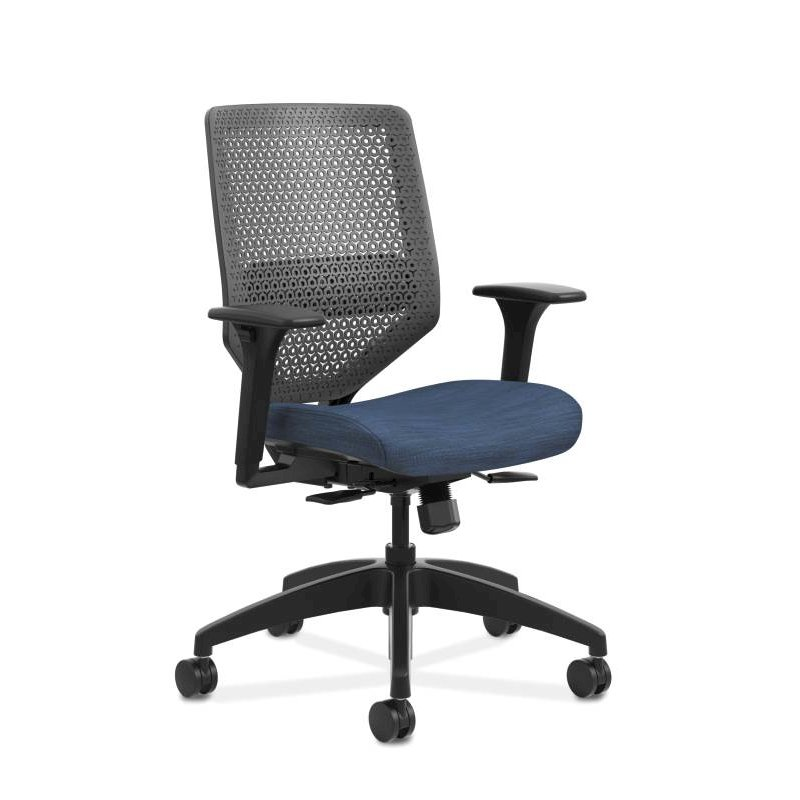 HON Solve Mid Back Task Chair | Reactiv Back | Midnight Fabric. Picture 1