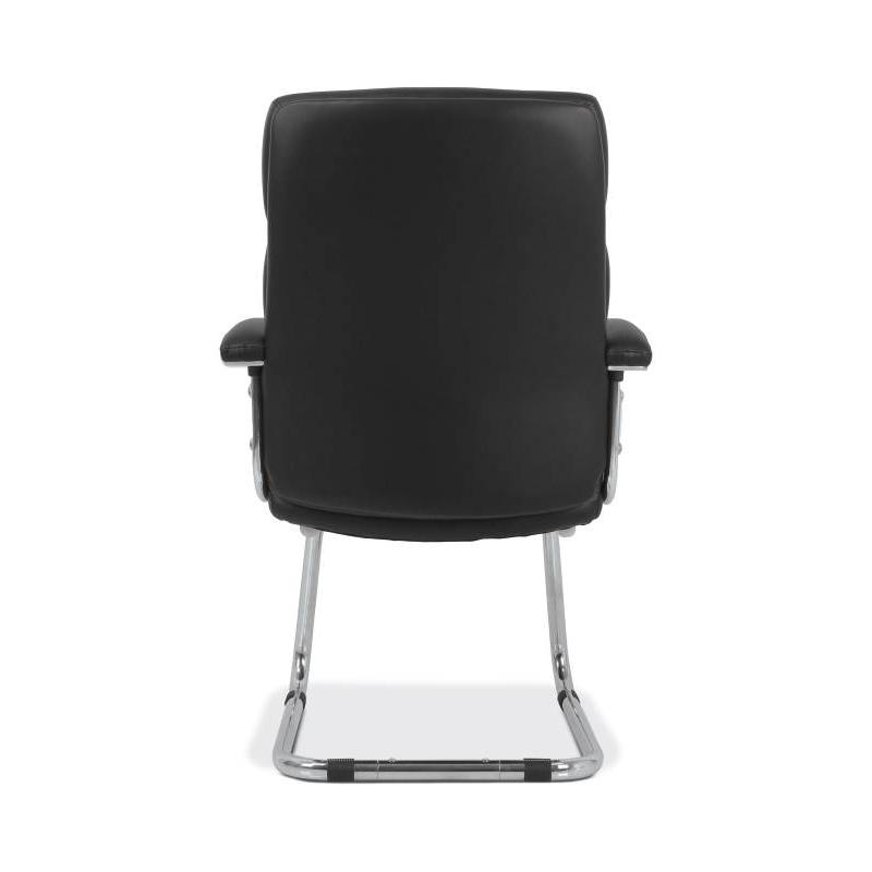 hon traction low back modern guest chair black softhread leather