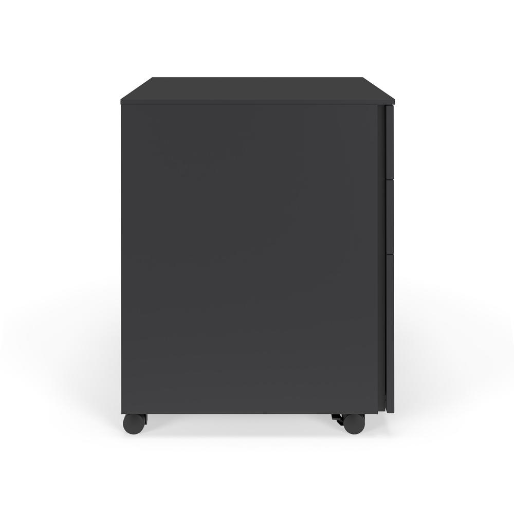 Commercial-Grade Mobile Metal Pedestal, Filing Cabinet, Charcoal. Picture 4