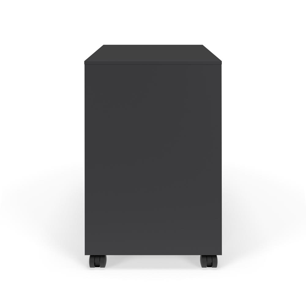 Commercial-Grade Mobile Metal Pedestal, Filing Cabinet, Charcoal. Picture 3