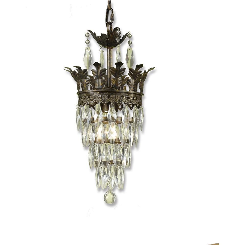 "Sovereign Mini Chandelier, 1-60W Candle Bulb, 16""HX9""D Hardwire Option"