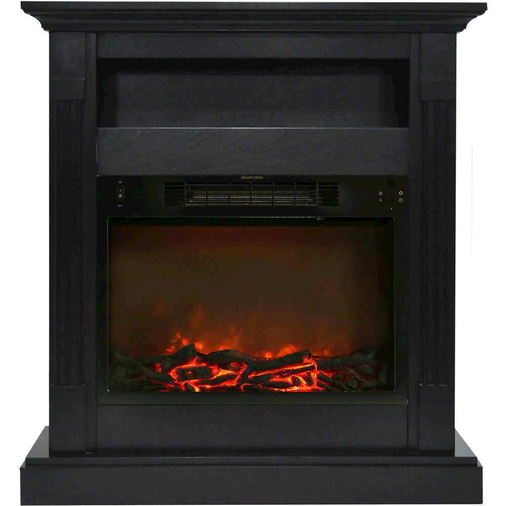 33 9 Quot X10 4 Quot X37 Quot Sienna Fireplace Mantel With Log Insert