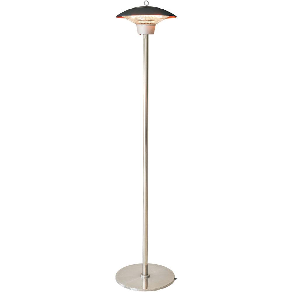 6 8 Quot Electric Infrared Halogen Stand Lamp With Two Heat Levels