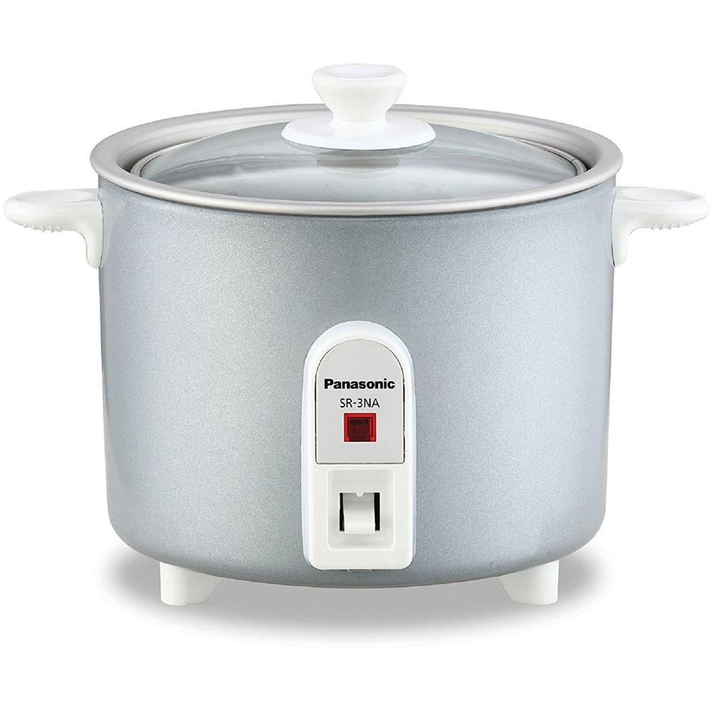 Mini Rice Cooker Non Stick Pan W Glass Lid 1 5 Cup