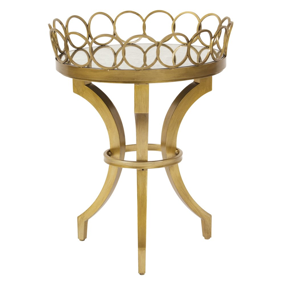 Coffee Table Tray Gold: Bright Gold Accent Table With Removable Tray
