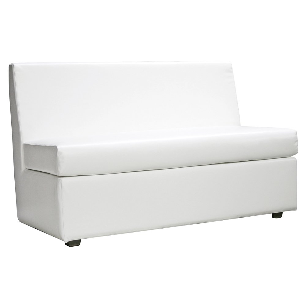 Atlantis White Slipper Loveseat Cover