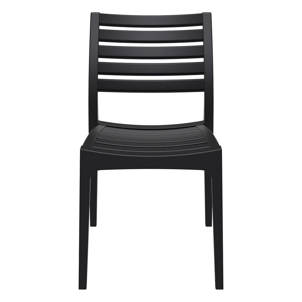 Ares Outdoor Dining Chair Black. Picture 3