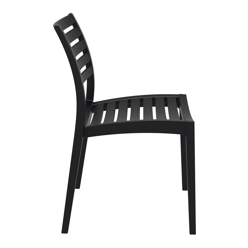 Ares Outdoor Dining Chair Black. Picture 4