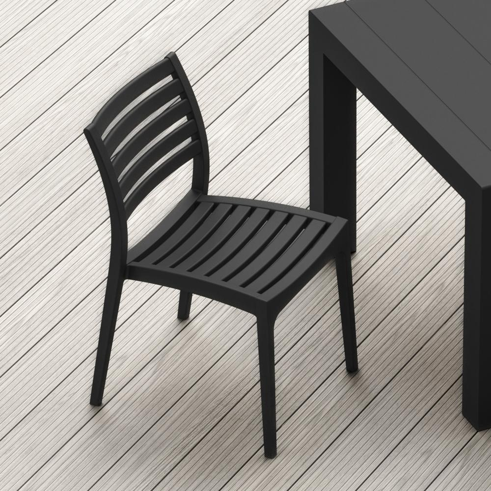 Ares Outdoor Dining Chair Black. Picture 6