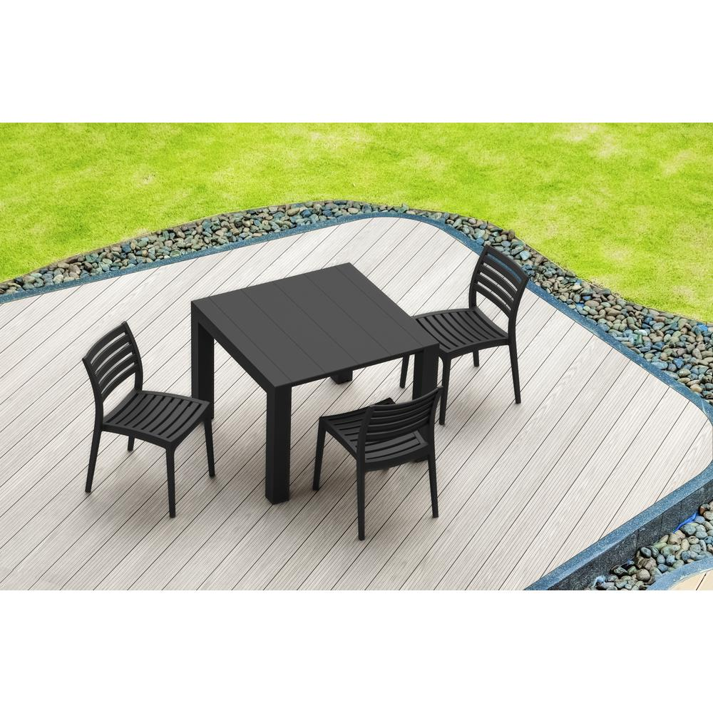Ares Outdoor Dining Chair Black. Picture 7