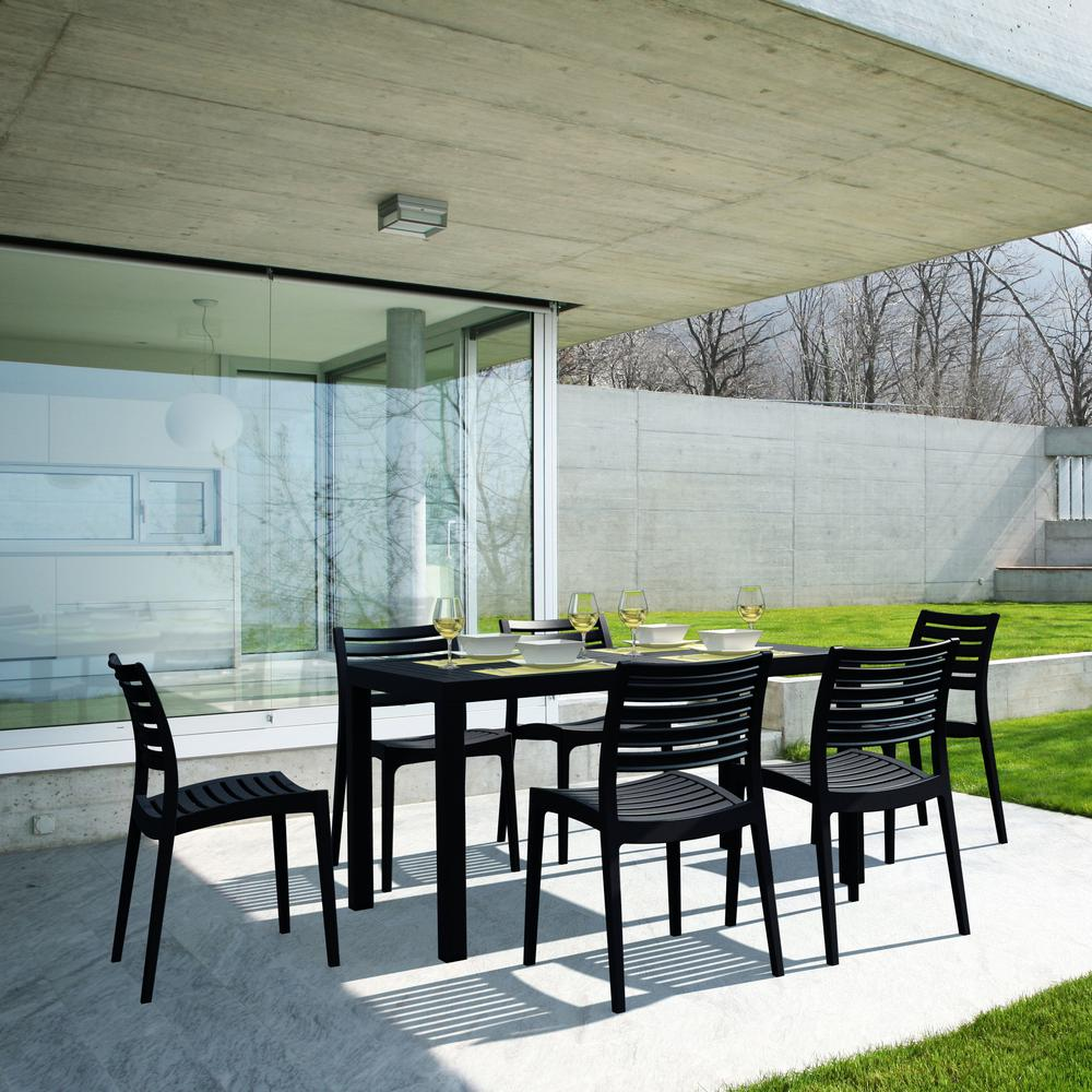 Ares Outdoor Dining Chair Black. Picture 9