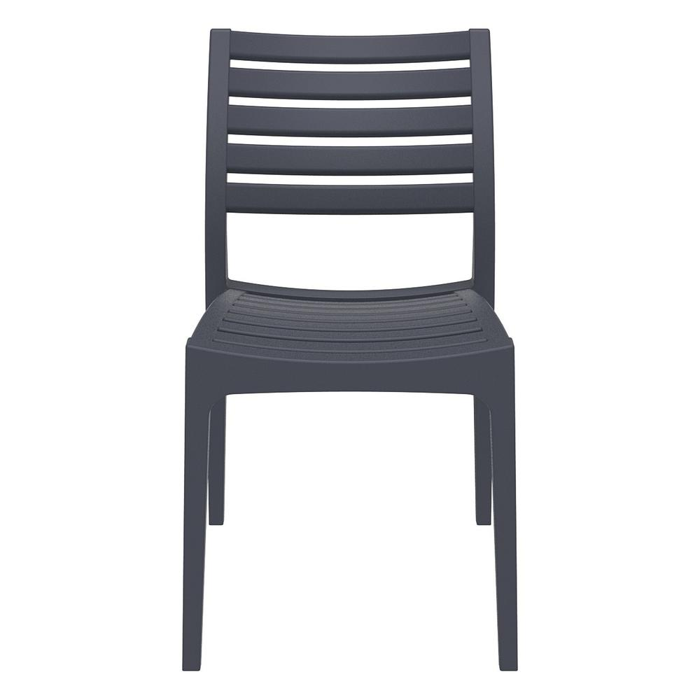 Ares Outdoor Dining Chair Dark Gray Set of 2. Picture 3