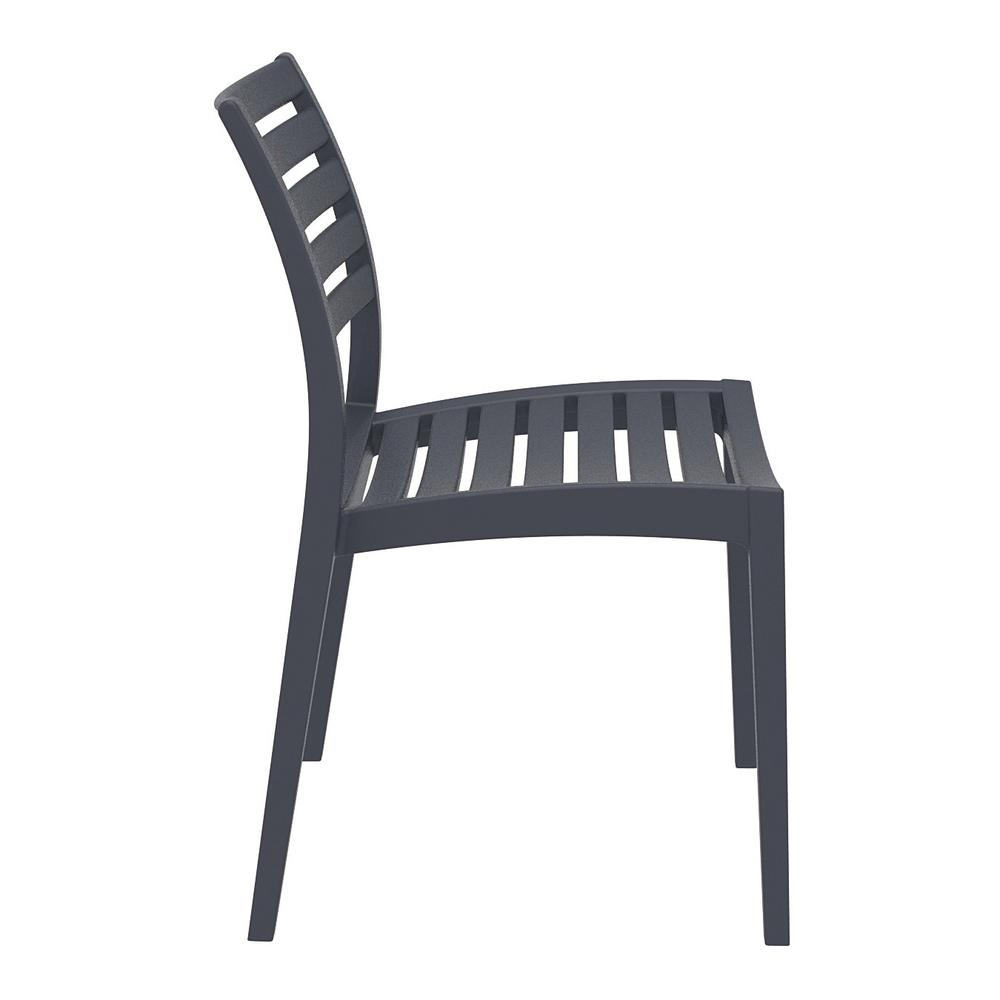 Ares Outdoor Dining Chair Dark Gray Set of 2. Picture 4