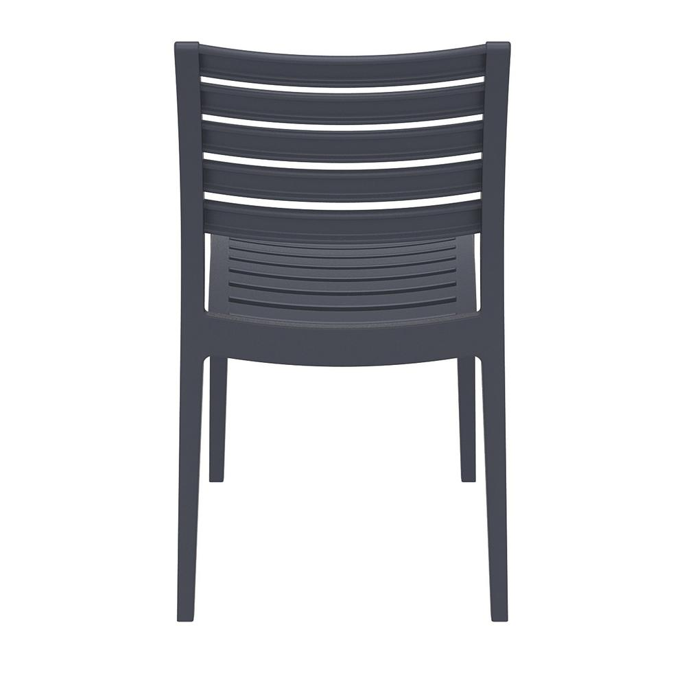 Ares Outdoor Dining Chair Dark Gray Set of 2. Picture 5