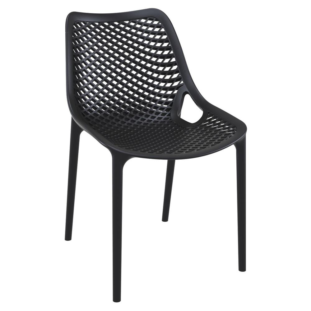 Air Outdoor Dining Chair Black Set of 2. Picture 1